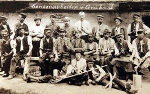 Sensenarbeiter Grubach 1900