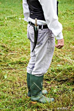 Kumpf mit Schnitter