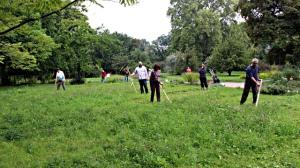 Rückentraining im Botanischen Garten
