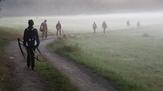 Sensenkurs im Waldviertel Schnitter 2017