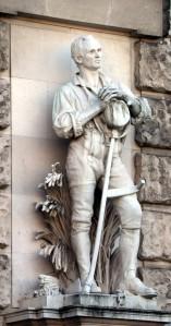 Held Bauer, der Schnitter auf dem Heldenplatz in Wien 2018
